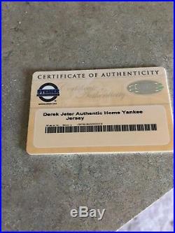 Derek Jeter Autographed Authentic Game Jersey Steiner COA