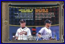 Derek Jeter / Chipper Jones 1999 Topps Dual Signature Auto Mint Autograph Hof