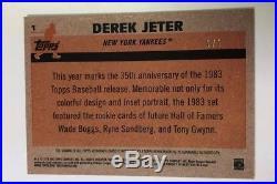 Derek Jeter Gold Superfractor Refractor Auto 1/1 1983 Silver Pack 2018 Topps