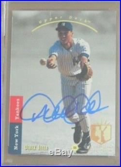 Derek Jeter Signed 1993 Ud Sp #279 Rookie Card Psa 9 Mint Autograph Upper Deck