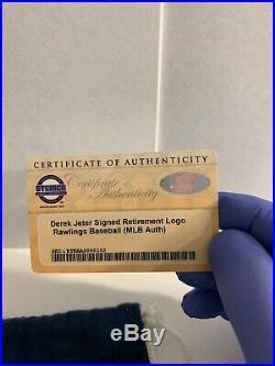 Derek Jeter Signed Retirement Logo Rawlings Baseball MLB And Steiner COA @@@@@