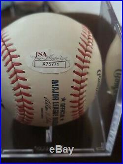 Derek Jeter Single Signed Baseball Autographed AUTO JSA Sticker and LOA