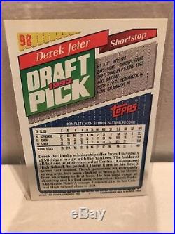 Derek Jeter Topps 1992 Draft Pick Rookie Card