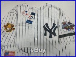 Derek Jeter Yankees Mens 2001 World Series Cool Base Jersey Majestic Pinstripe