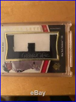 Derek Jeter auto, 2009 sp authentic by the letter auto #15/20 awesome auto
