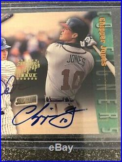 Derek Jeter/chipper Jones 1999 Stadium Club Co-signers Dual Signature Auto