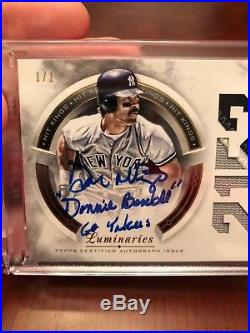 Don Mattingly 1/1 Patch Auto From 2018 Topps Luminaries donnie baseball