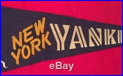 Extremely Rare 1950s New York Yankees 3-Dimensional Ames Baseball Pennant Early