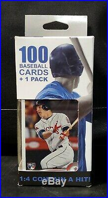 Fairfield 100 Baseball Cards Box with 2011 Topps Update Mike Trout RC on front