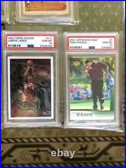 GOAT Rookie Card Lot PSA 10 Jordan Kobe Brady Jeter LeBron Mahomes Trout Tiger +