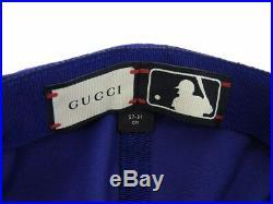 GUCCI Gucci New York Yankees Baseball Cap Canvas Blue Hat