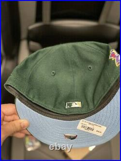 Hat Club Exclusive New York Yankee 1999 Green Icy Blue Size 7 1/8 New Era Rare