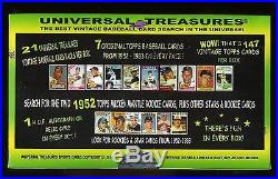 Hot 21 Pack Chase Box 1950's 1960's 1970's 1980s Find 1952 Topps Mickey Mantle