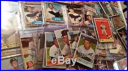 Huge 2,500+ card baseball collection 1935 to 1962, HOF, stars, many Mantle