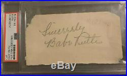 Huge 3 Babe Ruth 1939 Signed Cut Autograph PSA DNA Authenticated & Encapsulated