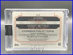 Ichiro Suzuki Hideki Matsui 2/5 2020 Topps Dynasty Dual Auto LDA-IM MLB