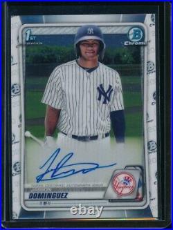 JASSON DOMINGUEZ AUTO 1st 2020 Bowman Chrome Autograph Yankees Rookie Card RC