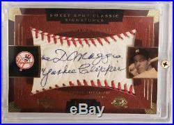 JOE DIMAGGIO YANKEE CLIPPER 2004 UD Sweet Spot Classic Signature AUTO #86/86