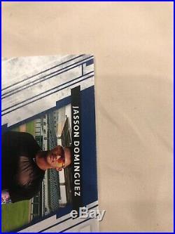 Jasson Dominguez 2019 Panini Elite Extra Rookie Patch Signature Auto /10