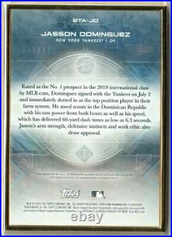 Jasson Dominguez True #1/1 Auto On Card Gold 2020 Bowman Transcendent Yankees