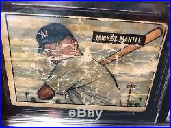 Just Back From BVG 1951 Bowman Mickey Mantle New York Yankees RC Rookie Card