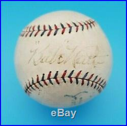 LOU GEHRIG & BABE RUTH AUTOGRAPHED 1928 A. L. BASEBALL with BOX JSA LETTER