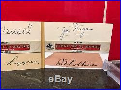 Legendary Cuts 1/1 Babe Ruth Lou Gehrig Auto 1927 Yankees Murderers Row Booklet