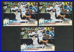 Lot Of (3) 2018 Topps Series 2 Gleyber Torres #699 SP RC Short Print Rookie