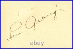 Lou Gehrig Autographed 2011 Upper Deck Exquisite Cut Signatures Card 4/4 162353