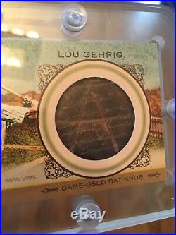 Lou Gehrig Cal Ripken Dual Bat Knob 2012 Allen Ginter Amazing Card! 1/1