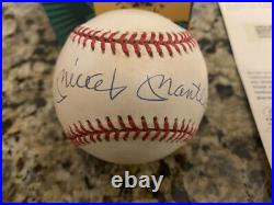 MICKEY MANTLE Autographed Signed American League Baseball With ORIGINAL BOX UDA