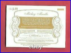 MICKEY MANTLE FANTASY CAMP USED JUMBO JERSEY CARD #d2/25 2018 FLAWLESS YANKEES