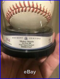 MICKEY MANTLE New York Yankees HOF Autographed ROAL Baseball BECKETT GRADE 10