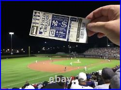 MLB at Field of Dreams game paper ticket