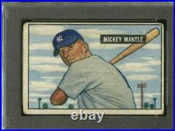 Mickey Mantle 1951 Bowman PSA 1.5 FR Very tough grade