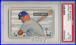 Mickey Mantle 1951 Bowman RC # 253 PSA 4 Rookie Card! Nice Front & Back