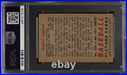 Mickey Mantle 1951 Bowman RC Rookie # 253 PSA 5.5 HE Centered Yankees PMJS
