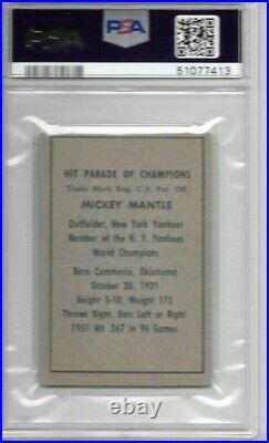 Mickey Mantle 1952 Berk Ross Psa 2! Centered/just Graded/rarertopps Rc