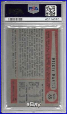 Mickey Mantle 1954 Bowman Psa 1 New Label! All Mantles Are Rising! Low Bin