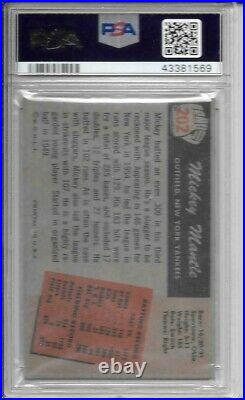 Mickey Mantle 1955 Bowman Psa 3! Centered/just Graded/bold Colors! Look