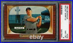 Mickey Mantle 1955 Bowman Yankees Card #202 Psa 8 Centered