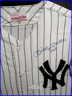Mickey Mantle #7 Autographed Signed New York Yankees M&n Vintage Jersey Psa Loa