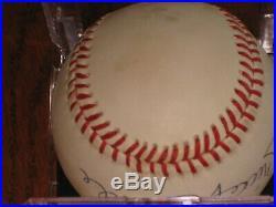 Mickey Mantle AUTOGRAPHED Rawlings Bobby Brown OML Baseball PSA/DNA LOA