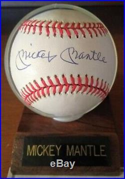 Mickey Mantle Autographed Baseball COA