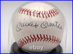 Mickey Mantle Graded 9/10 Mint Signed Beckett Bas Certified Baseball Autograph