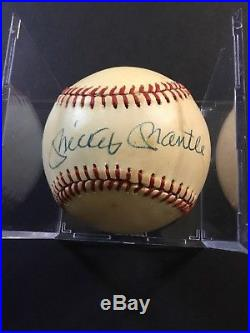 Mickey Mantle Hand Signed Baseball-James Spence Authentication! Free Shipping