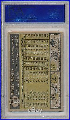 Mickey Mantle New York Yankees HOF 1961 Topps #300 PSA 8 NM-MT x152