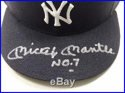 Mickey Mantle No. 7 Uda Upper Deck Authenticated Signed Autograph Ny Yankees Hat