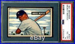 Mickey Mantle Psa Graded 4 Vg-ex 1951 Bowman Rookie Card #253 Great Eye Appeal