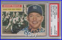Mickey Mantle Psa/dna 1956 Topps #135 Signed Card Certified Authentic Autograph
